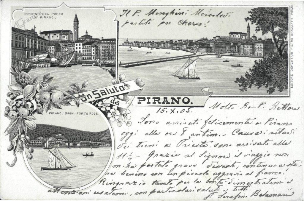 Stara razglednica-Piran
