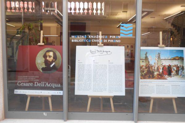 Razstava, posvečena Cesaru Dell'Acqui, tudi v piranski knjižnici